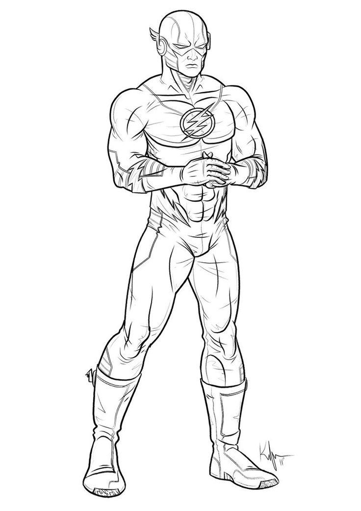 Coloriages à imprimer - Flash (Super-héros)                                                                                                                                                                                 Plus