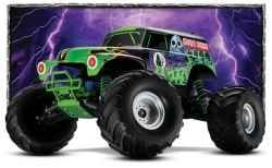 The rc Grave Digger monster truck by Traxxas has been built in honor of the real Grave Digger trucks. Built on a 1:10 scale, this RC truck can...