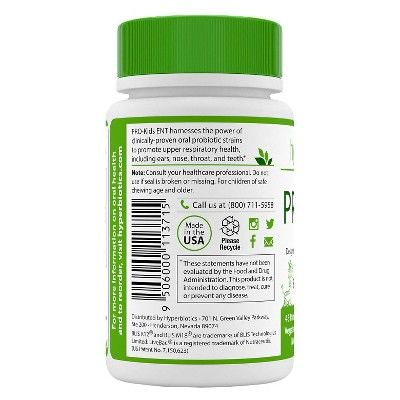 Hyperbiotics 45ct Pro-Kids Ent Chewable Probiotic Tablets