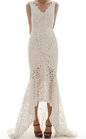Baroque laser-cut gown / Elizabeth Fillmore