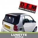 Lunette arrière O.E.M pour capote Smart ForTwo cabriolet en Alpaga Twillfast