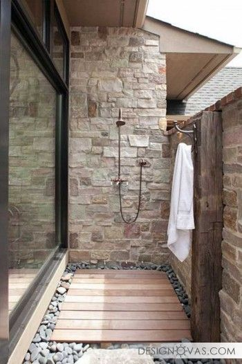 37+ Beautiful outdoor shower ideas | +100