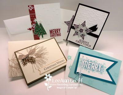 Christmas Stamp a Stack cards with tutorial available.
