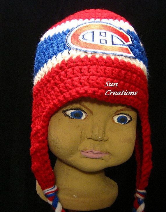 Check out Montreal Canadiens Earflap Hat with Logo Earflap,Beanie, Winter Hat, Accessories, Childrens,Toddlers,Winter Fashion , Hockey,Sports on suncreationsemporium