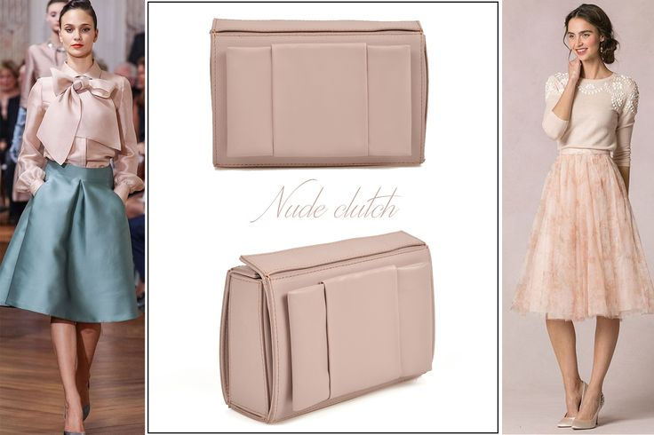 You can always be feminine and chic with a nude clutch @w
