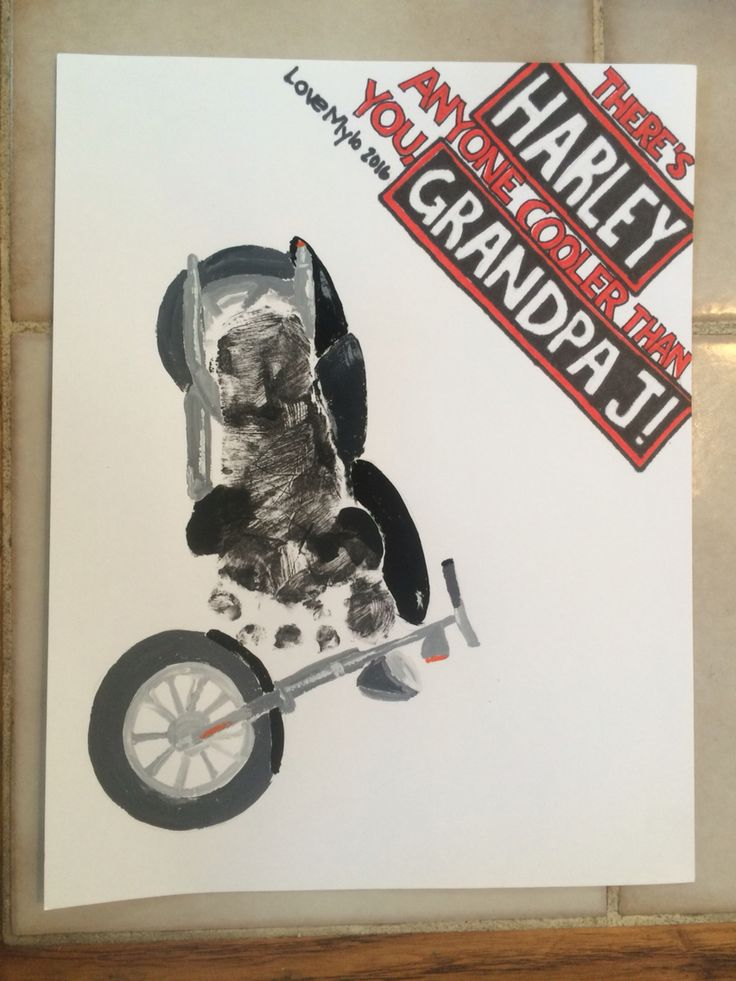 My take on the motorcycle footprint fathersday present