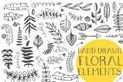 120+ Hand Drawn Floral Elements - Illustrations - 2