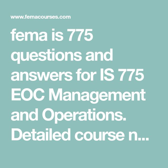 Fema Course Answers Final Exam: Related Keywords & Suggestions For