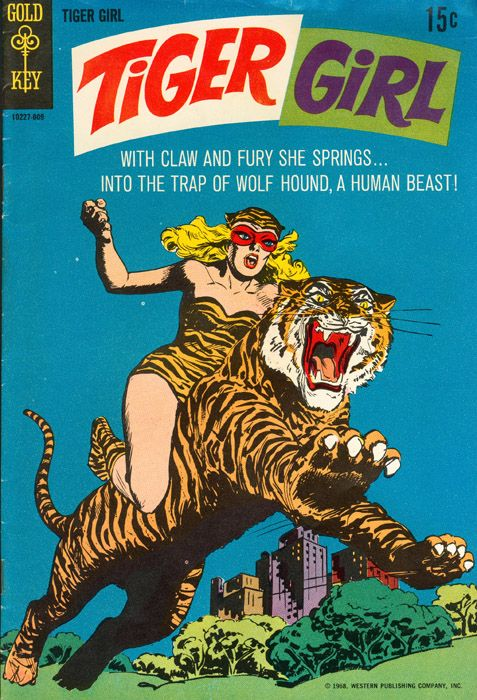 Tiger Girl, comic book cover