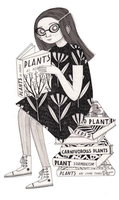 plantas  a lápiz