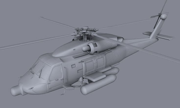 Helicopter HH60J - 3D Graphic - Modeling Software: Maya