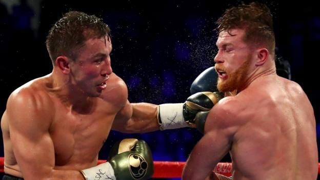 Both Gennady Golovkin and Saul Alvarez celebrated at the end of their first bout in SeptemberGennady Golovkin will face Saul 'Canelo' Alvarez in a world middleweight title rematch on 5 May.The first fight in Las Vegas ended in a controversial draw in September, with a location for the second bout yet to be confirmed.   #F1 #Football #sports #Tennis