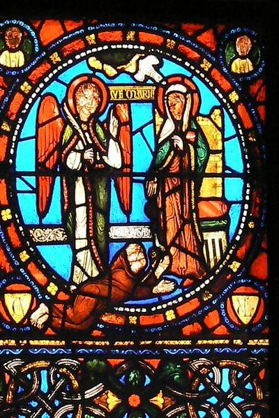 Paris, Saint Denis /  Angel stained glass /