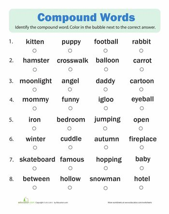 10 best images about compound words on pinterest cut and paste activities and pigs. Black Bedroom Furniture Sets. Home Design Ideas