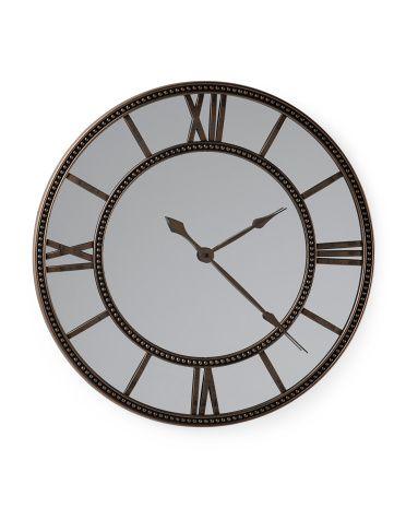 Decorative Clock Mirror - Wall Decor - T.J.Maxx