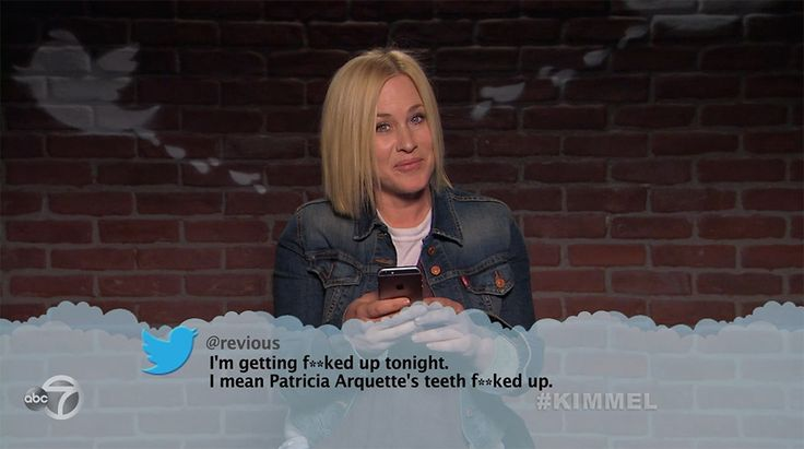 Patricia Arquette from Celebrity Mean Tweets From Jimmy Kimmel Live!