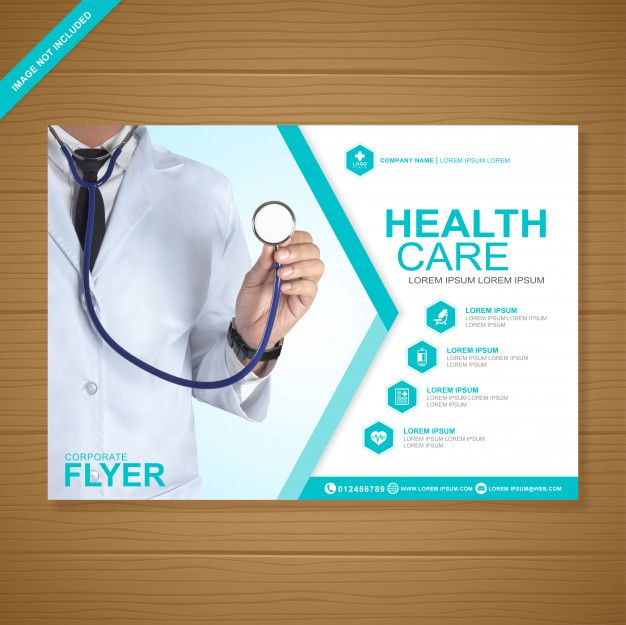 Health care and medical cover a4 flyer design template Premium Vector