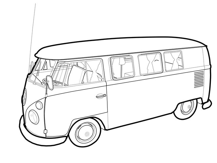 vw vector wip by 1200 900 vw t2 line drawings pinterest. Black Bedroom Furniture Sets. Home Design Ideas