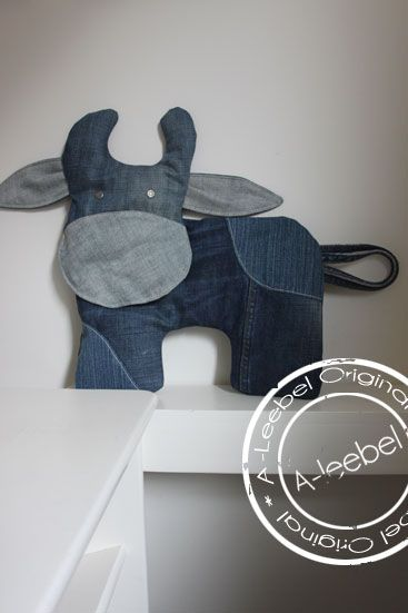 Old jeans; koe! Made by A-leebel.