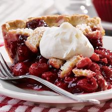 This cherry pie is thickened with tapioca. A favorite way my grandmother always made her yummy pies. Need to try this one!