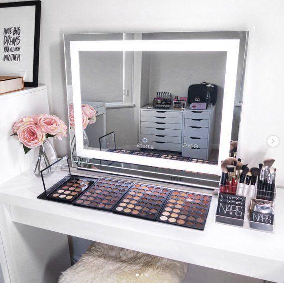 Crystal Vanity Makeup Led Mirror Etoile, Luxury Makeup Mirror With Lights