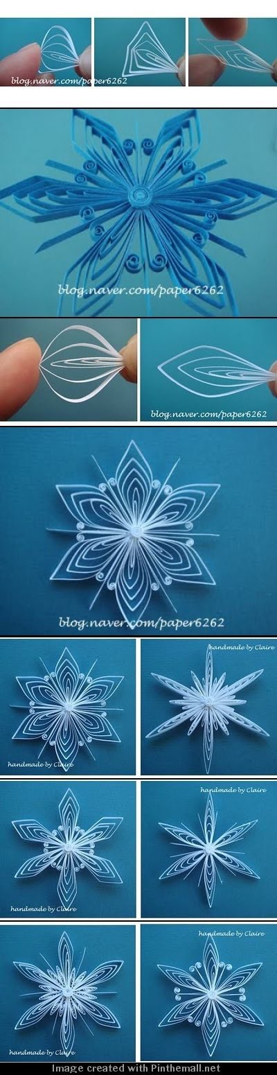 (Part 2 of 2) http://clairespapercraft.blogspot.com/2010/11/how-to-make-snowflake-tutorial.html