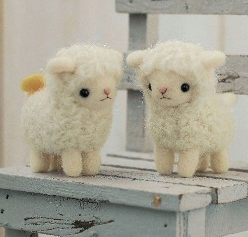 DIY handmade felt wool Sheep Friends Japanese kit package. $20.00, via Etsy.
