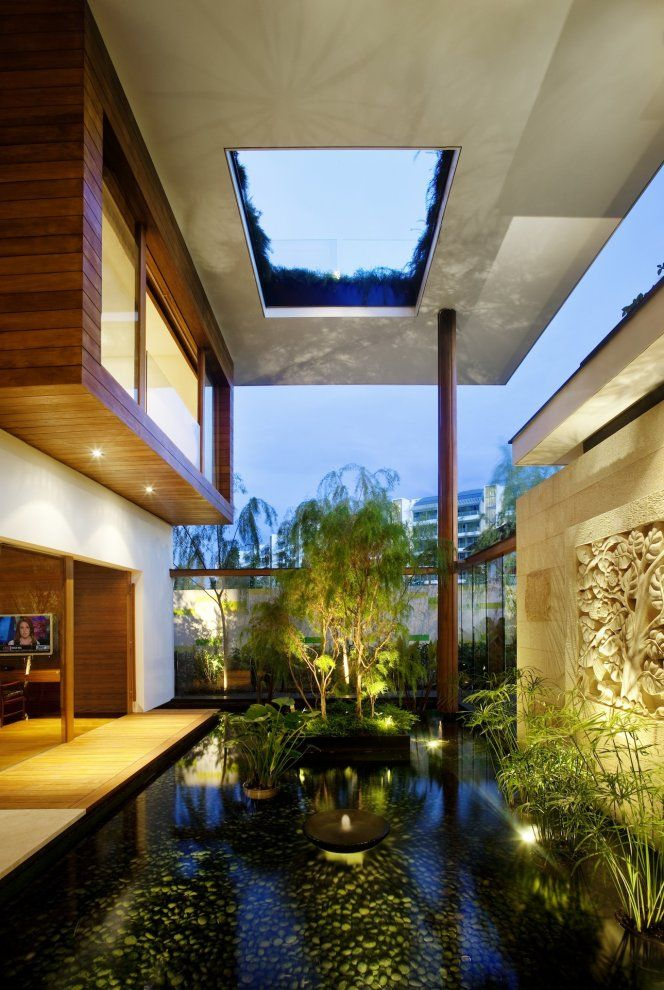 Ahhh: Ponds, Water Gardens, Water Features, Green Roof, Dreams House, Meera House, Gardens House, Design Home, Guz Architects