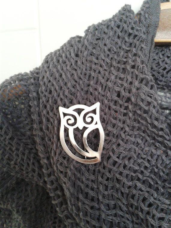 Regalo del día de plata buho broche  San Valentín regalo de