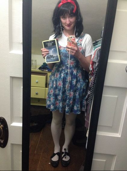 My smart girl costume was Matilda Wormwood! (I held a copy of Moby Dick all day long.)