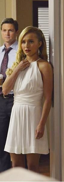 Hayden Panettiere's white halter dress by L'Agence