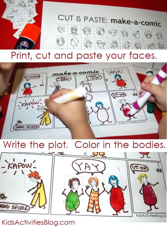 make a comic - SO AWESOME! via kidsactivitiesblog