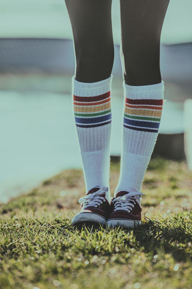 Old School #street #socks #sockporn #sockaholic #color #feelthecolor