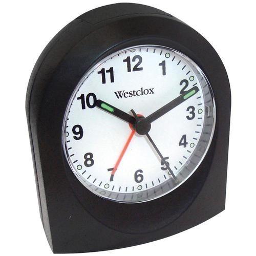 WESTCLOX 47312A Bedside Analog Alarm Clock (Black) - NYL47312A