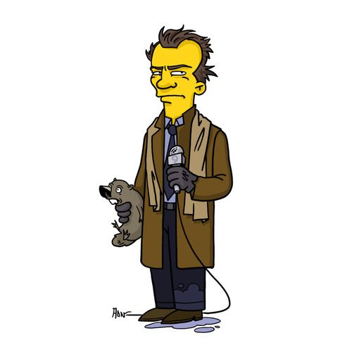 """Phil Connors  Punxsutawney Phil from """"Groundhog Day"""" / Simpsonized by ADN"""