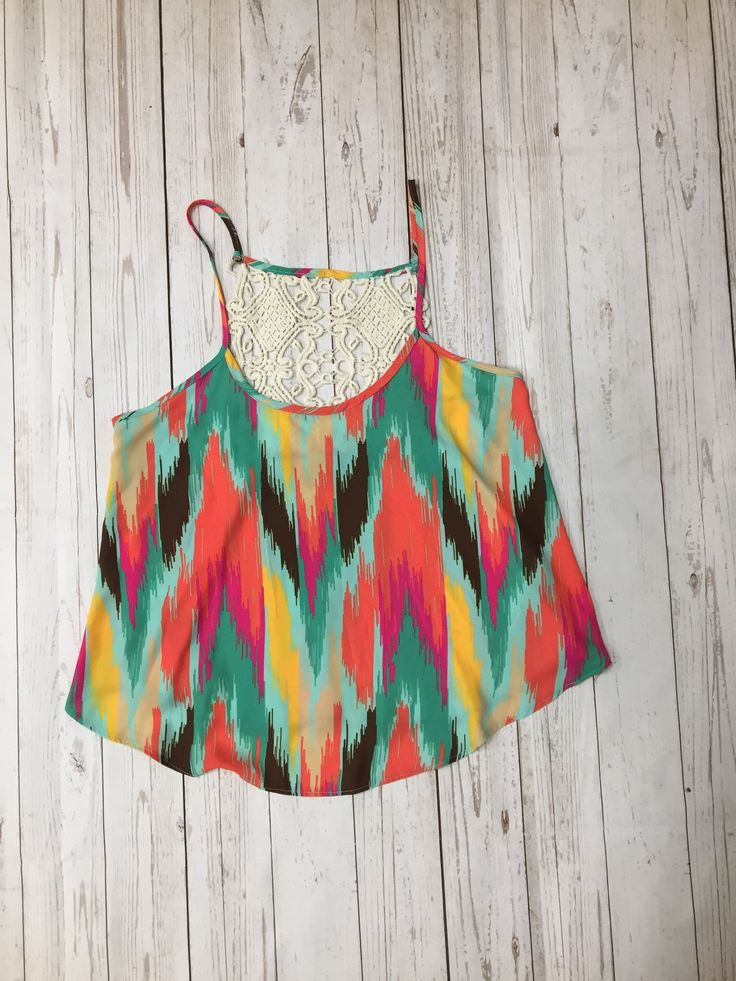 Judith March Chevron top with crochet detail