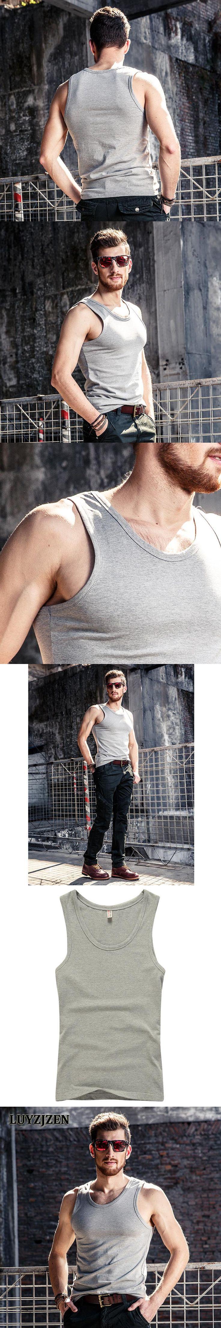 Men's BodybuildingTankTops Sleeveless Singlet and Undershirt Summer Men Fitness Singlets Big Muscle T-shirts Cotton Vest 19