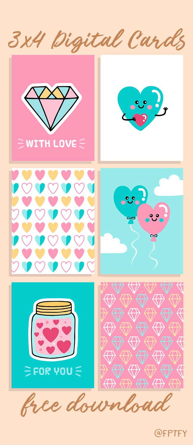 Cute Free Love 3×4 Printable Cards: Some fun, colorful, useful 3×4 printable cards for you today! The fresh heart theme makes them perfect for valentines, journaling, pretty packaging and even project life images! You could download the set in PNG or JPEG format! [showmyads] Be Sure To Subscribe To Receive  Exclusive Freebies and Post! :) Enjoy!  ...Read More »