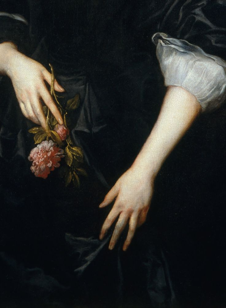 Lady Dacre (detail), Anthony Van Dyck, 1633