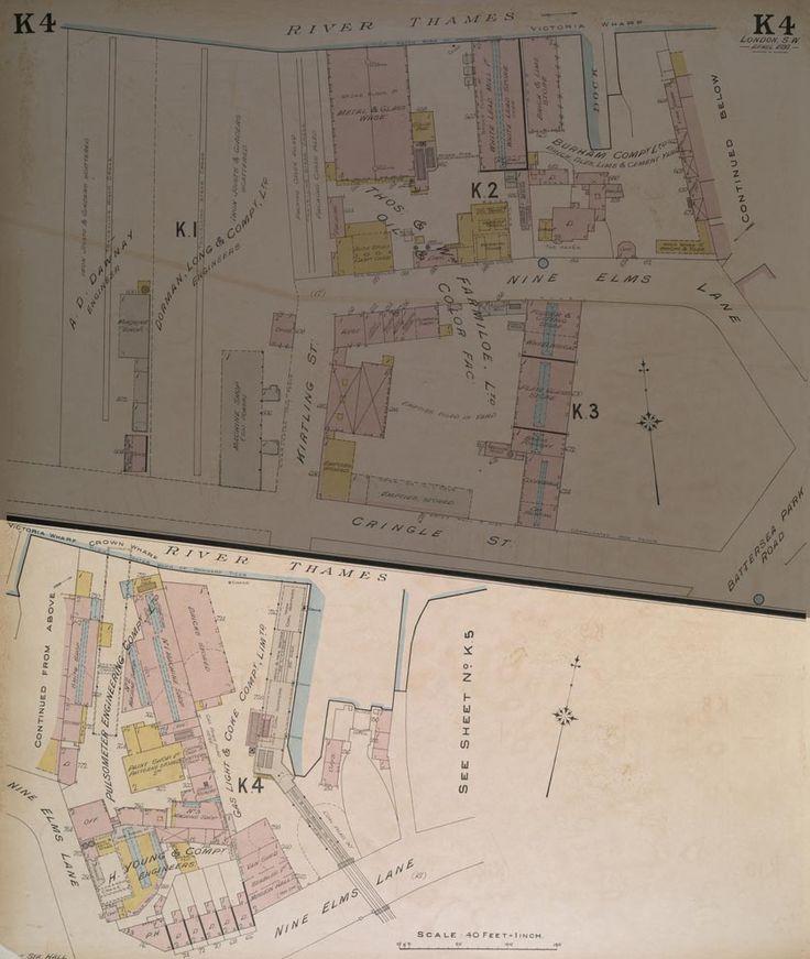 Mapa London%0A Insurance Plan of London South West District Vol  K  sheet