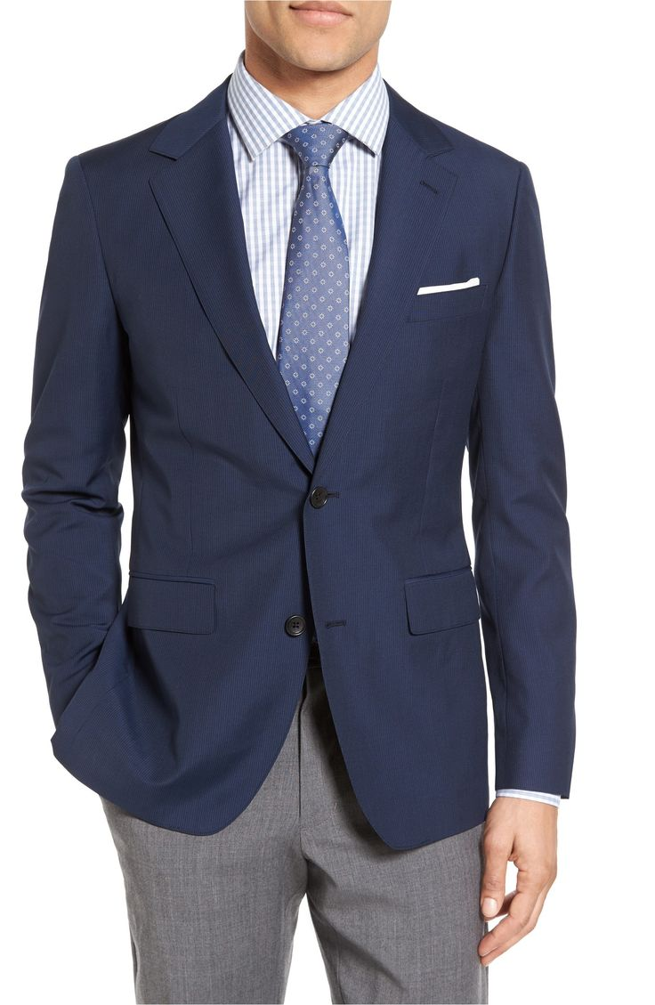 Main Image - Bonobos Jetsetter Trim Fit Stripe Wool Sport Coat
