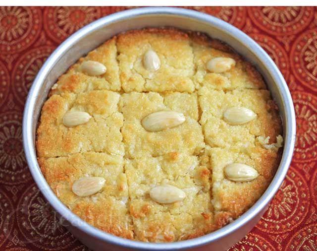 "Gluten-Free Coconut ""Semolina"" Cake (Edible Mosaic) ~ http://jeanetteshealthyliving.com"