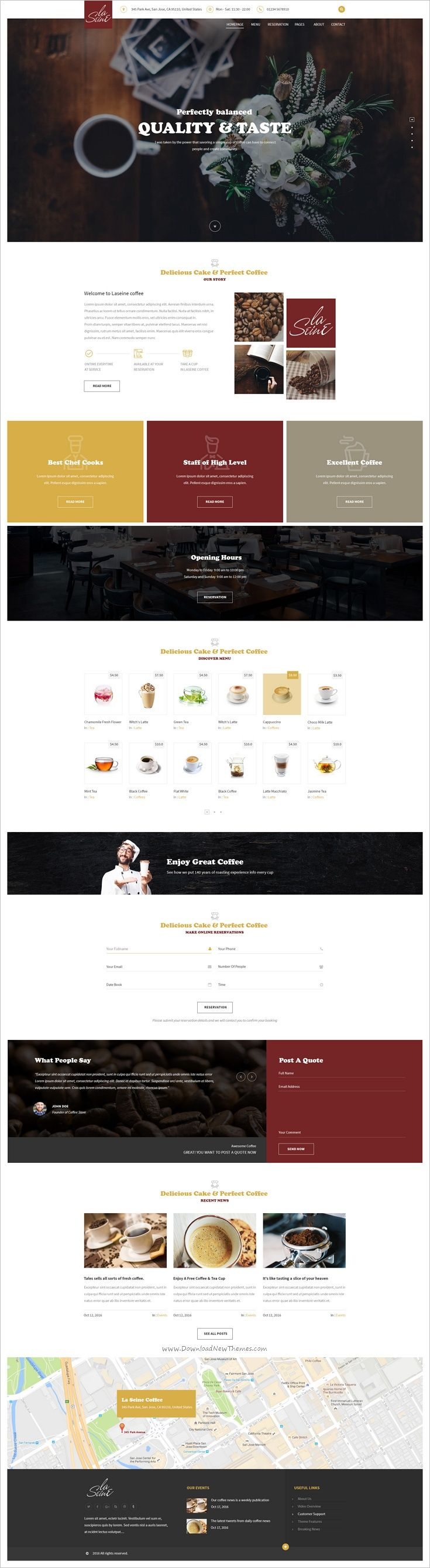 LaSeine is beautifully design premium #PSD template for #webdesign #coffee shop and #cafes website download now➩ https://themeforest.net/item/laseine-coffee-psd-template/18737846?ref=Datasata
