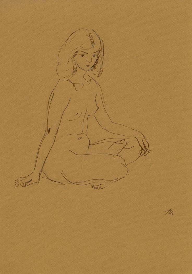 #Обнаженная. #Набросок 1 #ню #nu #рисунок #искусство пастельный кар #бумага #art #drawing #sketch Купить