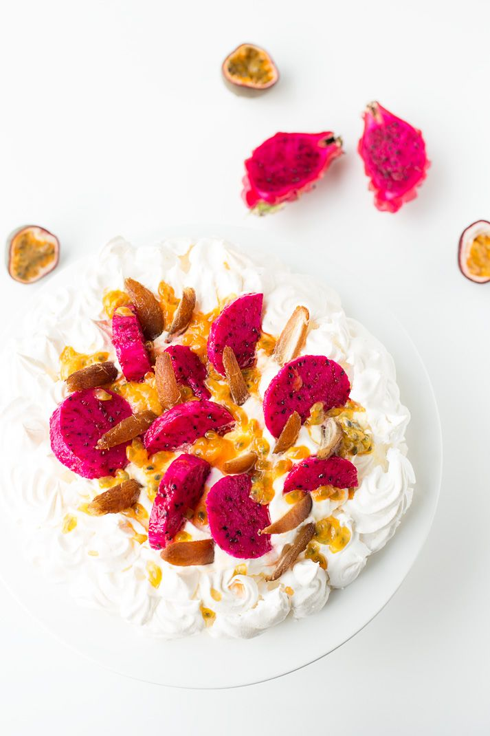 Trip to Israel.Recipe Pavlova with exotic fruits