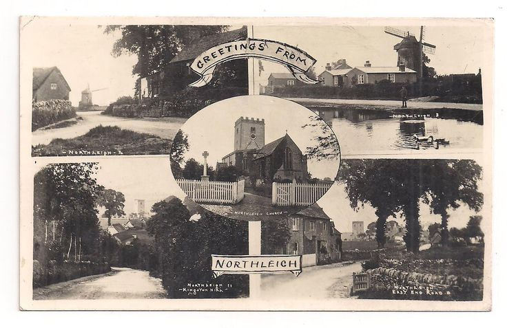 Oxon North Leigh Witney Windmill East End Kingston Hill Pond 1938 Postcard | eBay