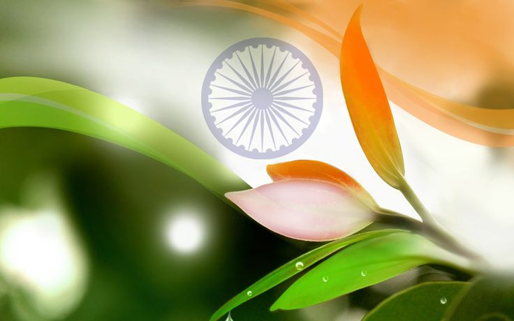 Flags of Countries – Three Colors as Flags of India Symbol with Nature Picture