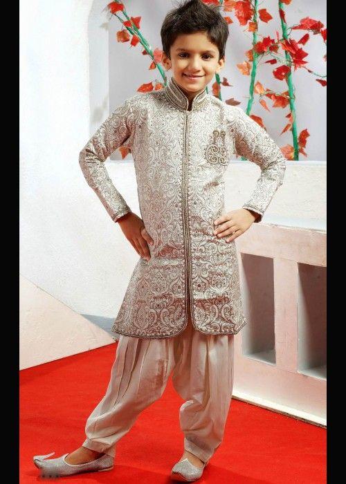 Patiala Sherwani for Boys . Buy online at - http://www.gravity-fashion.com/15877-patiala-sherwani-for-boys.html