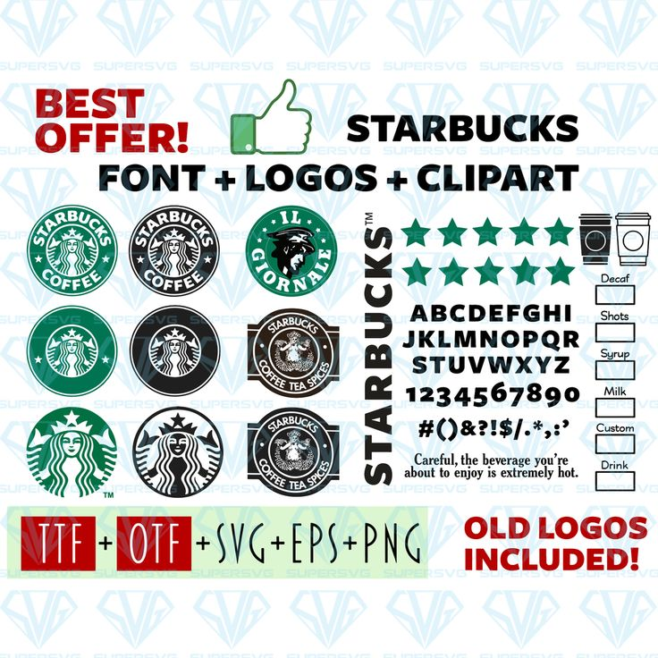 Starbucks Font and Logo SVG Files For Silhouette, Files