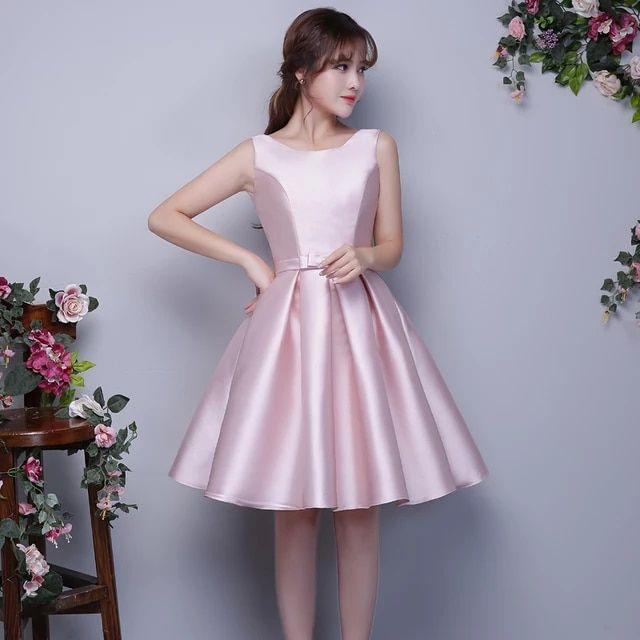 Tienda Online Nuevas Damas De Honor Vestidos De Rosa Satén